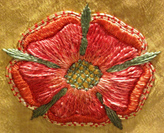 Embroidered rose