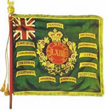 Regimental colour presented to the 63rd Regiment of Foot on 12 February 1872
