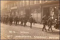 Men of the 3/7th Battalion the Manchester Regiment taken on July 5 1915 (P/4/E/4)