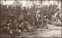 Men of the 6th Battalion the Manchester Regiment, at rest. Taken in Alexandria, Egypt, December 1914 (MRP/4/E)