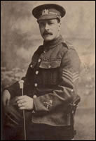 Sergeant Beeston of the 5th Battalion the Manchester Regiment, taken in Wigan December 1914. (MRP/3F/26)