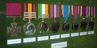 Scott VC Medal group on display in Ladysmith Gallery