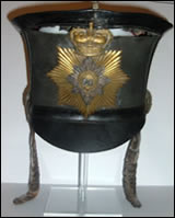 Image of the Shako before it was conserved in 2008