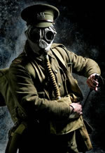 'Tommy Atkins' with a gas mask