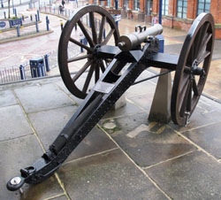 One of the Crete Guns outside the Town hall