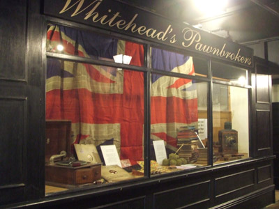 Pawnbroker's Window at Portland Basin Museum
