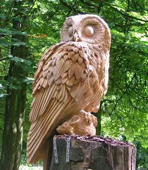 The timber owl sculpture