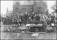 Old Photograph showing people outside Ryecroft Hall