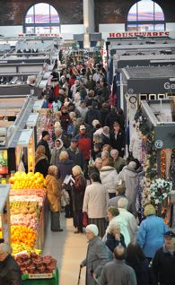 Image of the busy new Ashton Market Hall