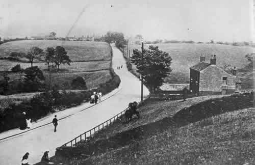 Old Photograph of Mottram Old Road, Hyde