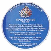 Frank Hampson's Blue Plaque