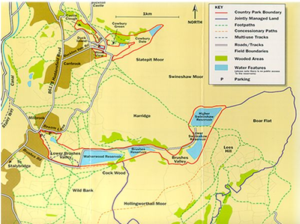 Map of Stalybridge Country Park