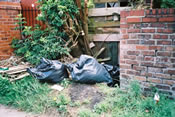 Photograph of Rubbish Dumped on Land