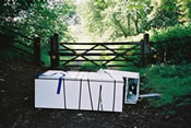 Photograph of Fridge Dumped in the Countryside