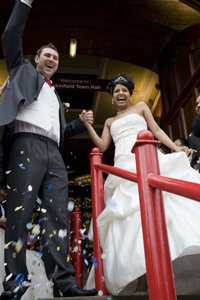 Image of a multicultural wedding